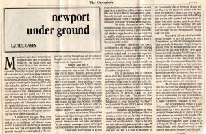 Newport Underground article